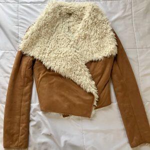 Vintage Inspired Vegan Suede Plush Jacket